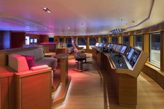 Wooden Fireplace, Yacht Interior, Yacht Design, Contemporary Interior, Master Suite, Design Projects, Beams, Fox, Layout