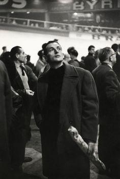 Henri Cartier-Bresson - Paris. 1957. Winter velodrome. French bicycle race.