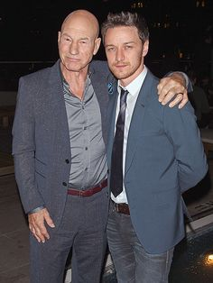 NO FILTH HERE | Patrick Stewart and James McAvoy are a dapper duo during the Magnolia Pictures and The Cinema Society after-party for their new film Filth, at Jimmy at The James Hotel in N.Y.C.