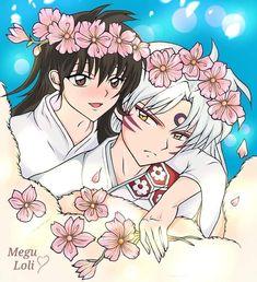 Inuyasha, Seshomaru Y Rin, Shooting Stars, Manga, Anime, Art, Falling Stars, Art Background, Sleeve
