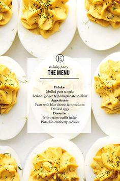 Your Next Holiday Party Menu #holiday #party #theeverygirl