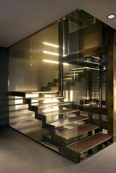 A modern staircase