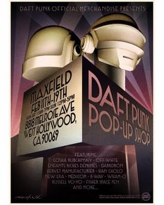 Daft Punk official pop up store is now open at 8818 Melrose Ave, West Hollywood, until February The duo promised a never seen concept store, mixing incred Daft Punk, Pop Up, Fisher Space Pen, Los Angeles Shopping, Magazine Mode, Tour Posters, The Weeknd, Tech Gifts, Electronics Projects