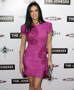 For indian embroidery: demi moore marchesa pink dress
