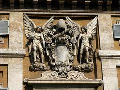 Sculptures and coat of arms, Santa Maria Maggiore, Rome
