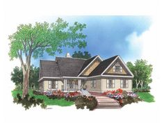 Cottage Style 1 story 3 bedrooms(s) House Plan with 1673 total square feet and 2 Full Bathroom(s) from Dream Home Source House Plans