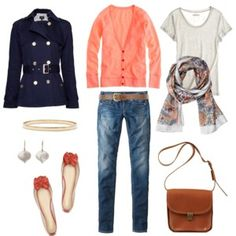 Comfy shoes, bright colours, beautiful jacket, practical bag.  This is a perfect look.