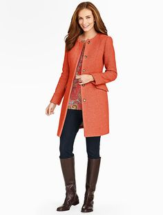 Talbots - Basketweave Coat | Coats and Outerwear |