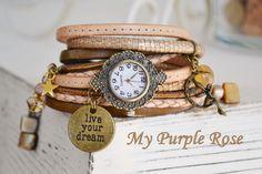 Wickelarmband / Armbanduhr / Uhr von My Purple Rose auf DaWanda.com