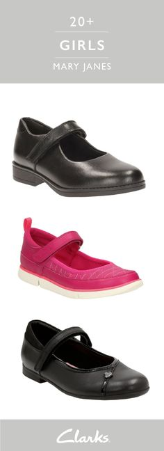 5bb3724ae8eac Clarks Mary Janes have just the right amount of attitude for your little  girl. Coming