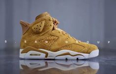 "Jordan Brand is releasing the ""Wheat"" Air Jordan 6 to go right along with the Fall colors. Check out photos and the release info at Da Jay Way."