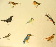Country fabrics birdy print for curtains