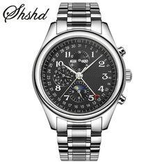 61.11$  Buy here - Men Mechanical Watches Top Brand Automatic Self-Wind Wristwatch Business Leather Strap Clock Men Waterproof Relogio Masculino   #aliexpresschina