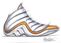 Shoe Sketches | Adidas Sketch - Adidas basketball shoe sketch.