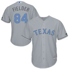 Prince Fielder Texas Rangers Majestic Fashion 2016 Father's Day Cool Base Replica Jersey - Gray - $119.99