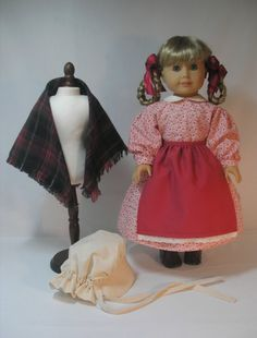 1854-106-5 Dress Shawl Sunbonnet. Apron and Hair by terristouch