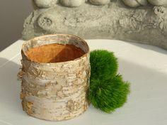 large natural birch bark cylinder vases, wedding flower pot, rustic chic wedding, party centerpieces, baskets, home decor