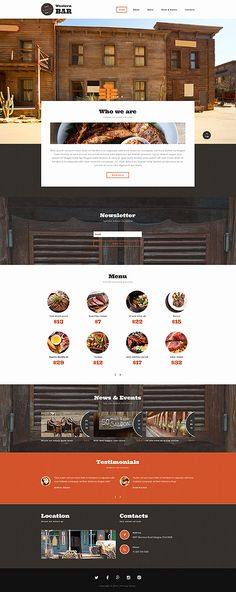 Bar Website Template. bar website template. drink bar website ...