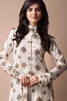 Churidar Salwar Designs for Womens in Trend - Buy lehenga choli online Salwar Designs, Salwar Kameez Neck Designs, Neck Designs For Suits, Dress Neck Designs, Blouse Designs, Frock Design, Pakistani Outfits, Indian Outfits, Modele Hijab