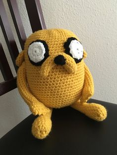 Adventure Time inspired crochet Jake the by ChicEstGeekBoutique