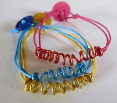 Color block bracelets  Easy DIY for  the little ones