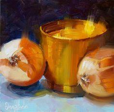 "Daily Paintworks - ""Onions"" - Original Fine Art for Sale - © Dipali Rabadiya"
