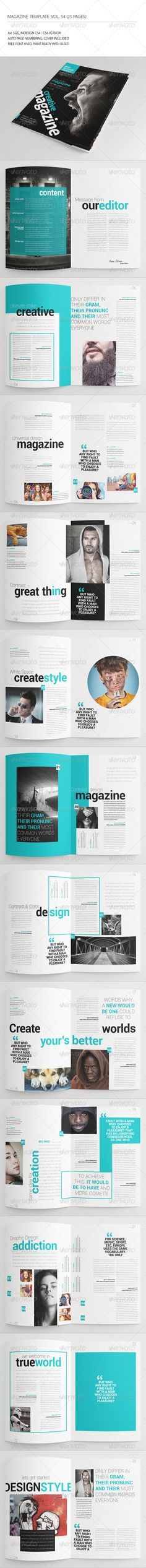Fresh InDesign 25 Pages Universal Magazine Template • Only available here ➝ http://graphicriver.net/item/25-pages-universal-magazine-vol54/7708580?ref=pxcr
