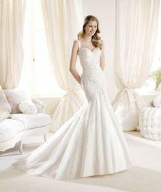 Trumpet Mermaid Sweetheart Lace Ivory Wedding Dress B14l0020 for $542