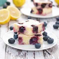 "Blueberry Lemon ""Brownies"""