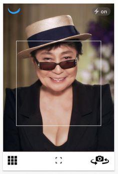 New #smilesfilm iPhone photography app by Yoko Ono