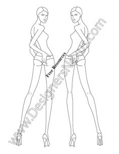 039- female fashion croquis template - FREE download and more croquis in Illustrator & .png at designersnexus.com!