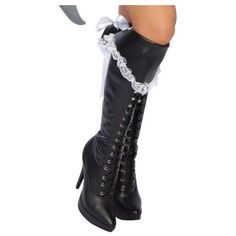 Lace Trimmed Pirate Boot Cover (€16) ❤ liked on Polyvore featuring costumes, shoes, halloween costumes, multicolor, pirate costume, roma halloween costumes, pirate halloween costumes, roma costume and colorful costumes