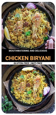 Dum Pukht Chicken Biryani is a highly-aromatic dish that needs no introduction. Because of its endless nuanced flavors, it is the most comforting meal of Indian cuisine. It's a perfect one-pot dinner! #chickenbiryani #onepotmeal #dumbiryani #onepotbiryani Recipe Using Chicken, Chicken Recipes, Christmas Dinner Menu, Dum Biryani, Gluten Free Recipes For Breakfast, Easy One Pot Meals, Tea Time Snacks, Biryani Recipe, Indian Breakfast