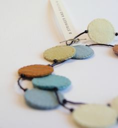 Stringer & Finch felt necklaces.