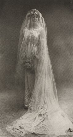 Marguerite Marie-Blanche Jacquemarie- Clémenceau, née di Pietro in a gown designed by her mother, Jeanne Lanvin. Photographed for Vogue (Sept. 1917) by Nadar.