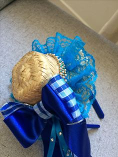 Lucca, Fascinator, Holiday Crafts, Wicker, Hair Accessories, Flowers, Arches, Head Bands, Blue Nails