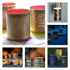 5 DIY projects of Tin Can Lanterns - diy gift selected by #sfizzy