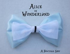 alice in wonderland hair bow by abowtiqueshop on Etsy
