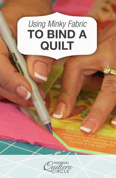 Binding a Quilt with Minky Fabric | National Quilters Circle #LetsQuilt