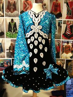 Black n Blue Irish Dance Dress by Gavin