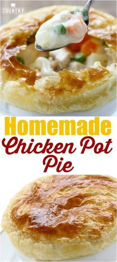 *.* Homemade Chicken Pot Pie recipe from The Country Cook ^^ Pinterest | https://pinterest.com/lamiapiccolacucina/