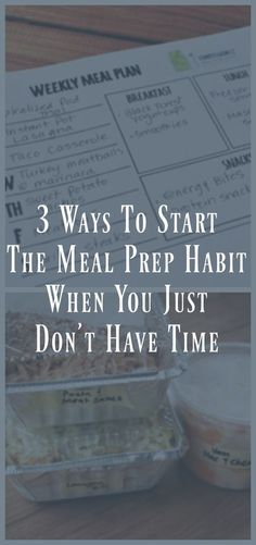 3 Ways to Start a Meal Prep Habit When You Just Don't Have Time easy meal prep tips. time management tips ideas. how to start meal prep. once a week meal prep. Meal Prep Plans, Easy Meal Prep, Healthy Meal Prep, Meal Preparation, Healthy Sweet Snacks, Healthy Recipes, Tea Recipes, Healthy Foods, Make Ahead Meals