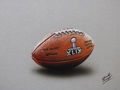 Marcello Barenghi: NFL Super Bowl XLIX Game Ball - drawing  Watch me draw it: http://youtu.be/MfUmtORVC4s?list=UUcBnT6LsxANZjUWqpjR8Jpw #marcellobarenghi