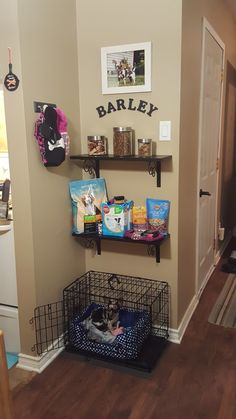 puppy room design idea 49 ~ Home Design Ideas Animal Room, Pet Corner, Corner Nook, Dog Bedroom, Bedroom Ideas, Puppy Room, Dog Spaces, Lovely Apartments, Dog Area
