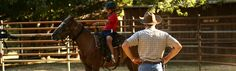 Arena horse riding lessons at Marble Mountain Ranch