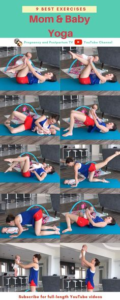Mommy And Baby Yoga, Yoga Mom, Mom And Baby, Baby Baby, After Baby Workout, Post Baby Workout, Yoga Bebe, Baby Yoga Poses, C Section Workout