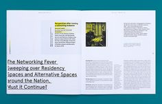 Mapping Residencies, issue 02 on Editorial Design Served