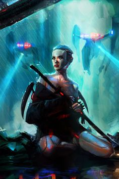 A scrapbook of cyberpunk visions to get you dreaming about the future to come. Cyberpunk 2077, Cyberpunk City, Cyberpunk Aesthetic, Character Concept, Character Art, Concept Art, Character Design, Character Ideas, Samurai Concept