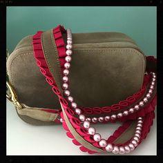 handmade bags ruffles Swarovski stones deer leather made in Bavaria luxury fashion munich