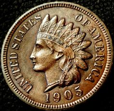 1905 Mint Indian Head Liberty Coin Brilliant by riggsbyscorner